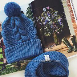 Вязанная шапочка и снуд для мальчика