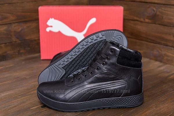 Мужские зимние кожаные кроссовки Puma SUEDE