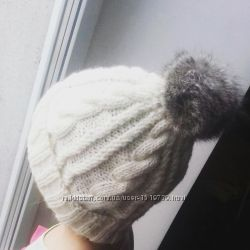 Шапочка с косами зимняя