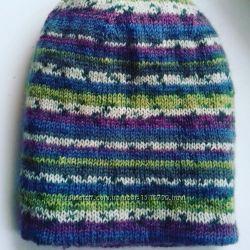 Двойная шапочка зимняя