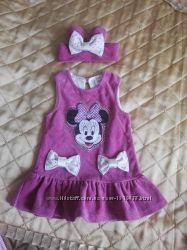 Платье велюровое минни маус на рост 68 см
