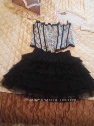Шикарний набор юбка фатиновая и корсет 46 размера