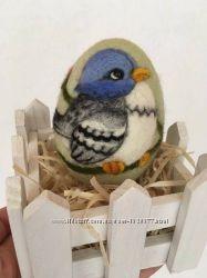 Пасхальное яйцо валянное