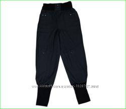 Брюки бриджи утепленные флисом, ткань джинс, -коттон, р-р 122-134
