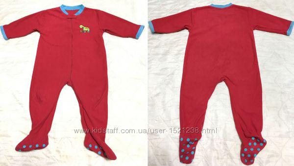 Мягкий флисовый человечек, слип, пижама EARLY DAYS 18-24 месяц. 86 см
