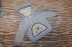 Кофточки малышу с капюшоном и реглан