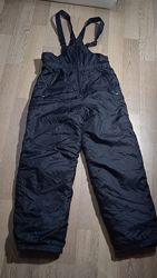 Полукомбинезон теплый, зимний полукомбинезон, штаны на подтяжках р 146-152