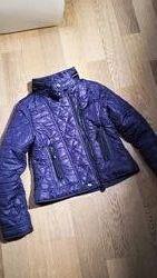 Демисезонная куртка косуха фиолетового цвета Influx на р 140-152