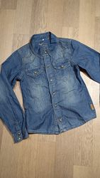 Джинсовая рубашка на кнопках р 134 на возраст 9-10 лет