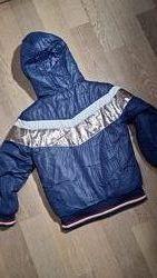 Куртка на меховой подкладке, двухсторонняя р 122-128