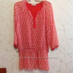 Нарядная шифоновая блуза в горох , фирмы Miss lilium, размер 50-52