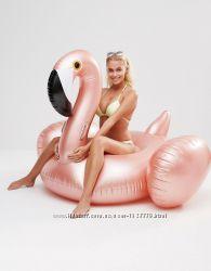 Перламутровый надувной Фламинго. Для пляжа, бассейна и вечеринок. 190 см