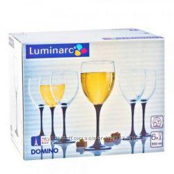 Luminarc Domino J0015 - Набор бокалов для вина на черной подножке 6