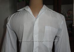 Белая рубашка на 12-13 лет, с нюансом