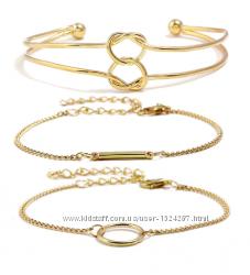 Набор браслетов под золото michao