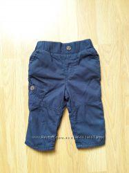 Штаны синие для мальчика 0-3 месяца M&Co идеальное состояние