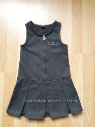 Сарафан платье для девочки 3 года серое Tu идеальное состояние