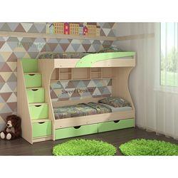 Детская двухъярусная кровать с ящиком для белья. Кровать Кадет
