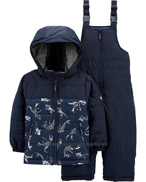 Зимний комплект куртка и комбинезон oshkosh для мальчика