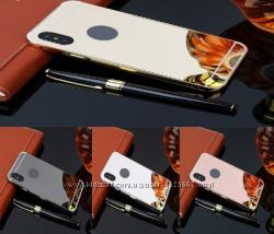 Акриловый Чехол накладка Зеркального цвета бампер для iphone X - 10