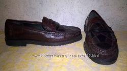 фирменные туфли мокасины PAOLO   размер 43 нат кожа