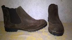 ботинки брогги TAMARIS 25490-37   40 р  натур кожа-замш