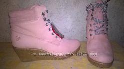 оригинальные ботинки на танкетке Tamaris 1-26073-37, 41р нат кожа  Primaloft