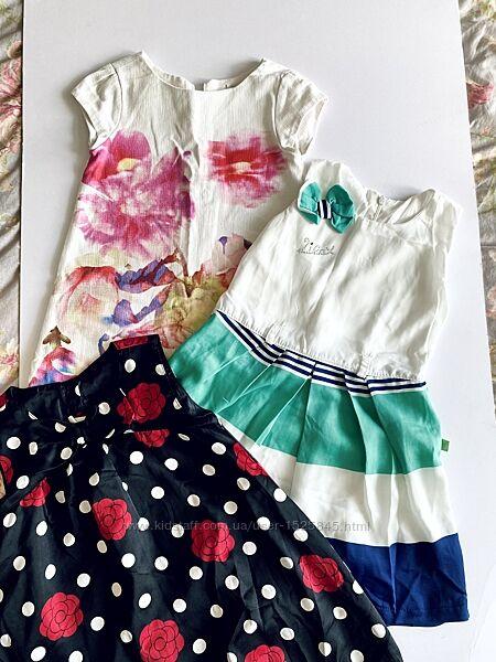 Нарядное брендовое платье на девочку 3-4 года Zara Crazy8 с коротким рукаво