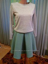 Стильная юбочка мятного цвета от h&m