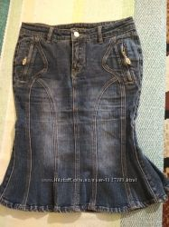 Юбка джинс годе