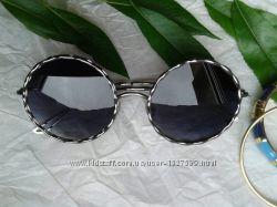 Стильные круглые очки Италия серебристая оправа