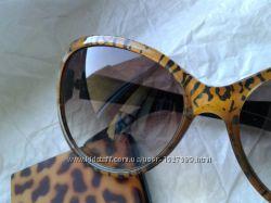 Фирменные очки леопардовая оправа необычная