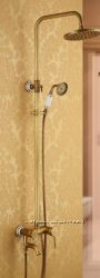 Душевая стойка для ванной комнаты со смесителем лейкой и верхним 0181