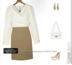 Платье для офиса размер С-М с длинным рукавом