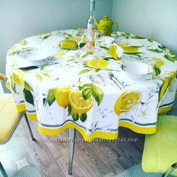 Продам скатерть c лимонами
