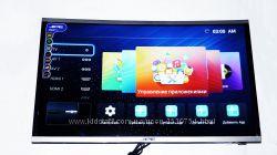 LCD LED Телевизор JPE 32 Изогнутый Smart TV, WiFi, 1Gb Ram, 4Gb Rom, T2