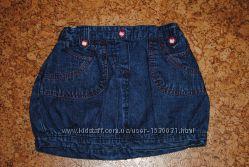 Джинсовая юбка для девочки рост 92