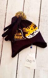 Комплект шапочка и перчатки для мальчика 2-3 лет