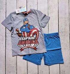 Летняя пижама для мальчика Капитан Америка