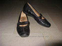 Кожаные туфли, балетки Gabor