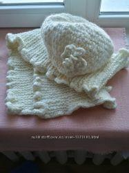 Сказочно красивый комплект шапка шарф 100 шерсть