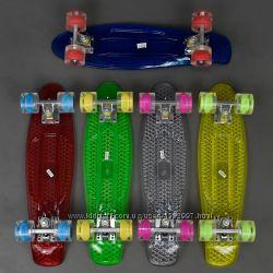 Скейт 2200 СВЕТ, доска55см, колёса PU d6см
