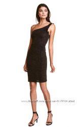 Распродажа H&M черное асимметричное платье  р M 10 44-46 оригинал выпускной