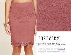 Forever21 - кружевные юбки- черная, розовая, миди, 8-10-12, s-m-l, 42-44-46