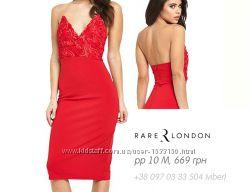Rare London - Шикарное платье-бюстье, миди, нарядное, р10, М, 38, выпускное