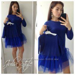 Комплект платьев с фатином фемели лук мамадочька