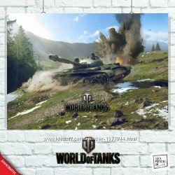 Плакаты по игре Танки, World Of Tanks, WoT, Танчики