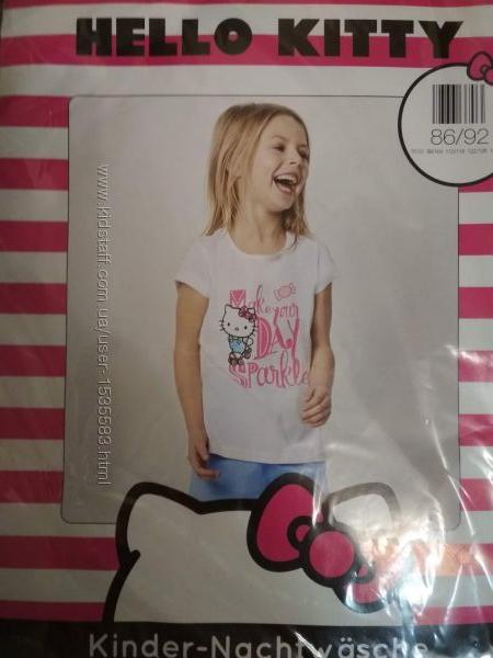 Хлопковая пижама для девочки hello kitty