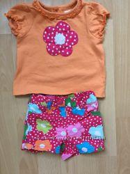 Комплект шорты  футболка Crazy8 Размер 12-18М