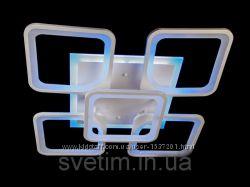 Светодиодная LED люстра с пультом и синей подсветкой. Яркая и экономная